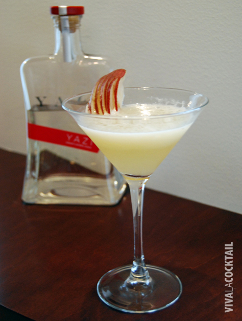 asian peartini ginger vodka cocktail