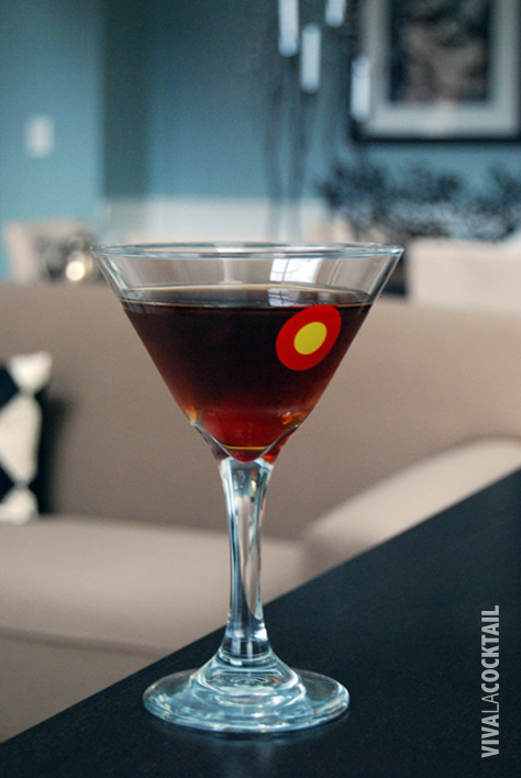 manhattan bourbon cocktail